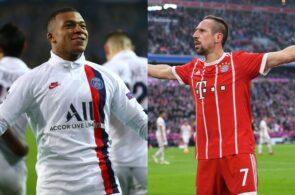 Kylian Mbappé og Franck Ribery