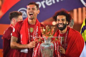 Dejan Lovren og Mohamed Salah, Liverpool