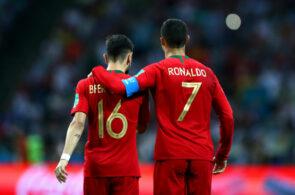 Bruno Fernandes og Cristiano Ronaldo, Portugal
