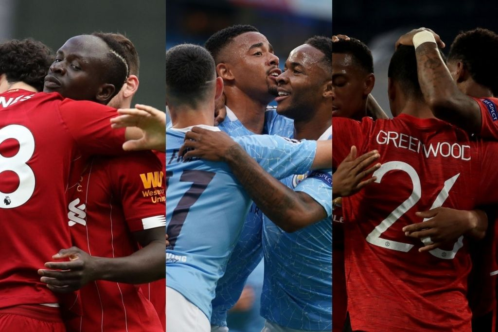 Liverpool, Manchester United, Manchester City