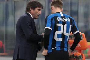 Christian Eriksen og Antonio Conte, Inter
