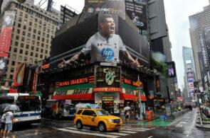 Tottenham's Gareth Bale Takes Over Times Square on Premier League Billboard