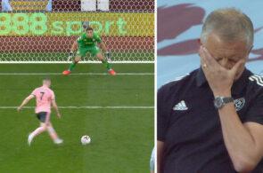 Emiliano Martínez, Aston Villa, redder straffe mod Sheffield United