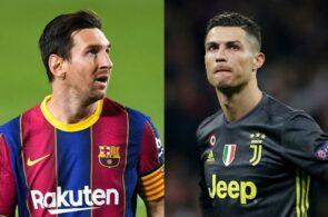 Lionel Messi, FC Barcelona, og Cristiano Ronaldo, Juventus
