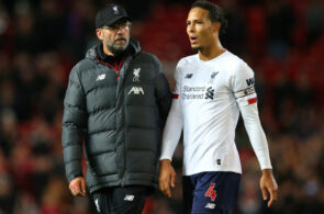 Jürgen Klopp og Virgil van Dijk, Liverpool