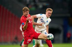 Frederik Tingager, AGF, og Mikkel Kaufmann, FC København