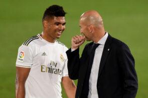 Casemiro og Zinedine Zidane, Real Madrid