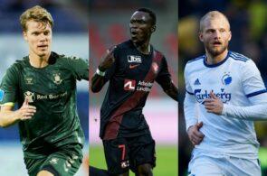 Sigurd Rosted, Brøndby, Pione Sisto, FC Midtjylland, Nicolai Boilesen, FC København