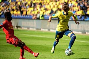 Kamaldeen Sulemana, FC Nordsjælland, og Jesper Lindstrøm, Brøndby