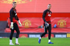 Dean Henderson og David De Gea, Manchester United
