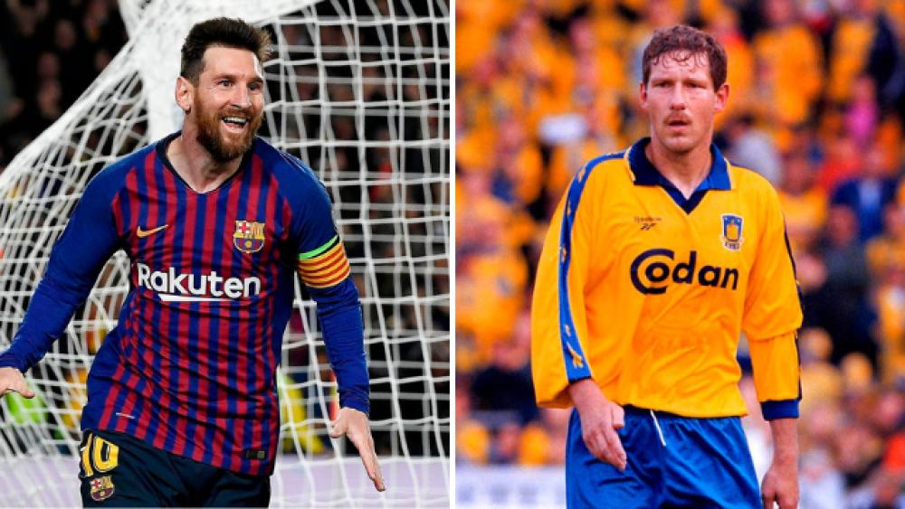 Lionel Messi, FC Barcelona, og Kim Vilfort, Brøndby