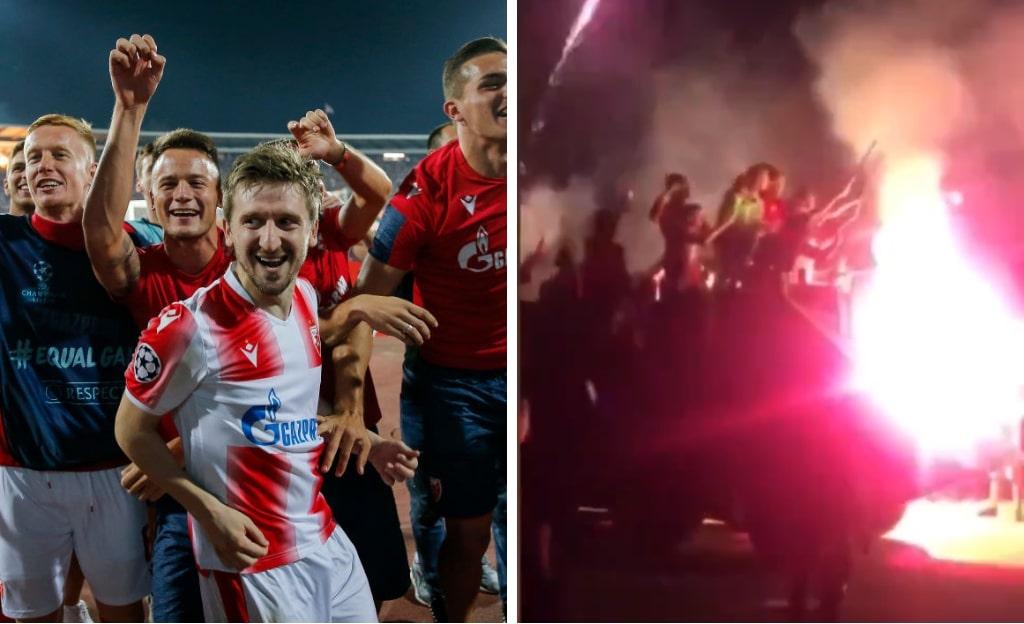 Røde Stjerne fejrer Champions League-kvalifikation