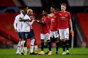 Neymar, PSG, og Scott McTominay, Manchester United
