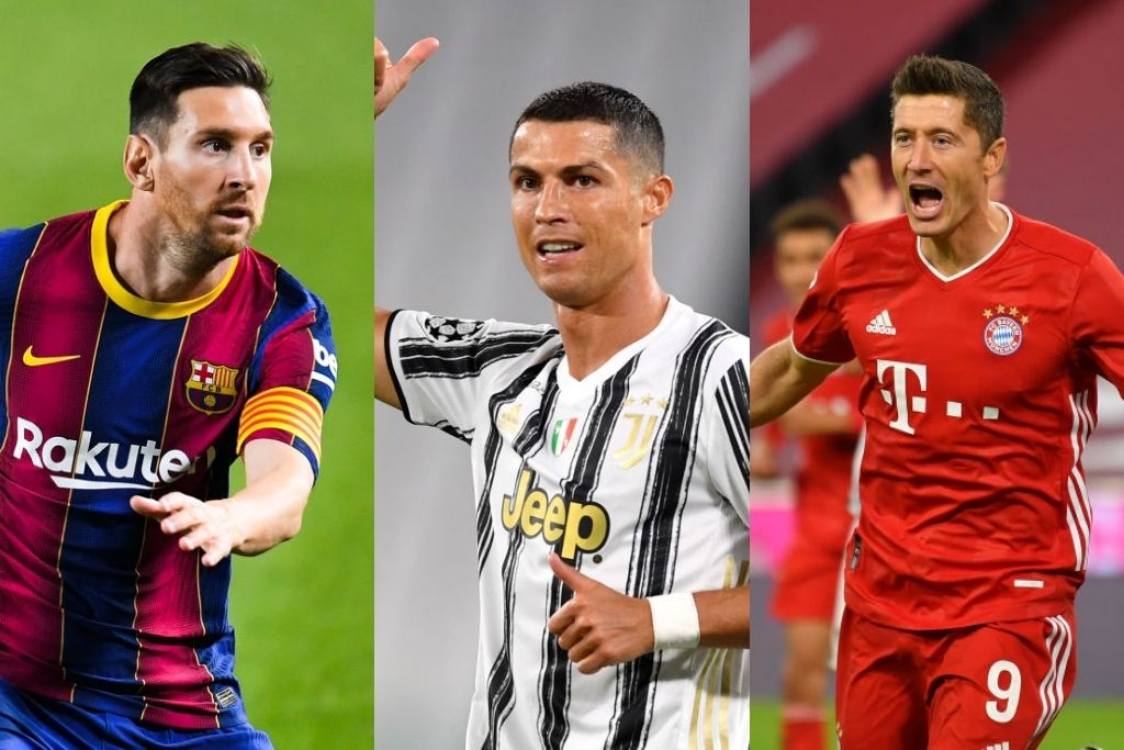 Lionel Messi, Barcelona, Cristiano Ronaldo, Juventus, Robert Lewandowski, Bayern München