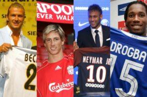 Neymar, beckham, Torres, Drogba