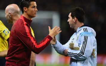 Cristiano Ronaldo og Lionel Messi