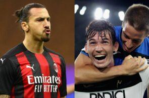 Zlatan Ibrahimovic, AC Milan, og Marten de Roon, Atalanta