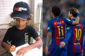 Kauan Basile, Neymar og Lionel Messi