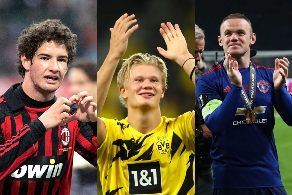 Alexandre Pato, AC Milan, Erling Håland, Dortmund, Wayne Rooney, Manchester United
