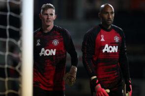 Dean Henderson og Lee Grant, Manchester United