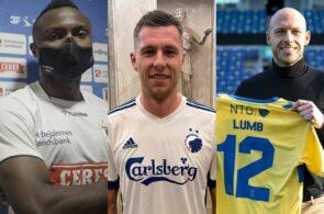Bubacarr Sanneh, AGF, Lukas Lerager, FC København, og Michael Lumb, Brøndby