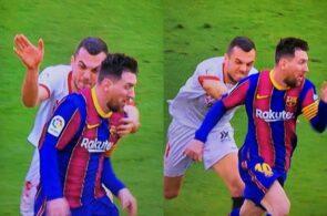 Lionel Messi, Barcelona, og Joan Jordan, Sevilla
