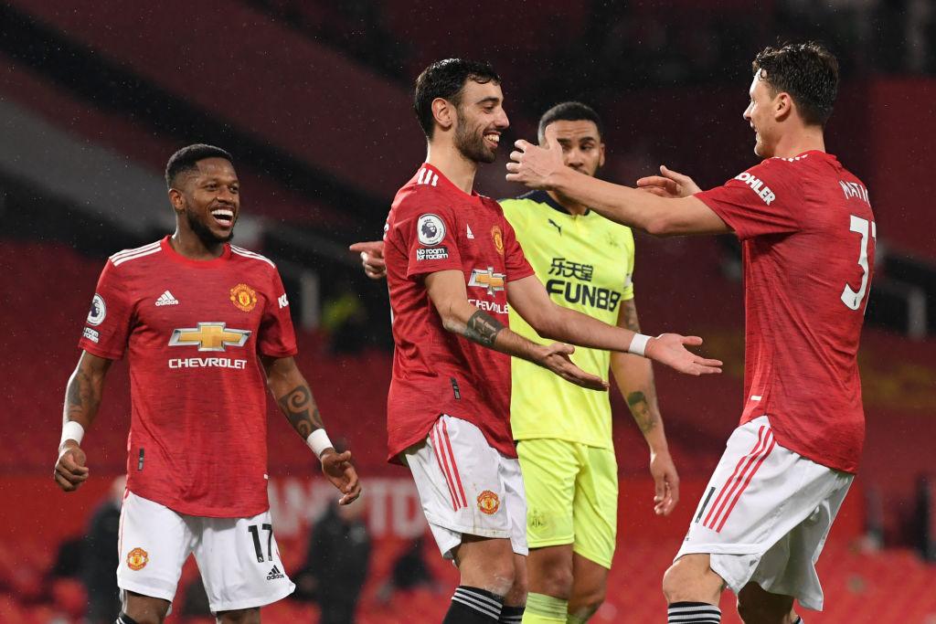 Bruno Fernandes og Nemanja Matic, Manchester United