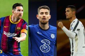 Lionel Messi, Jorginho og Cristiano Ronaldo