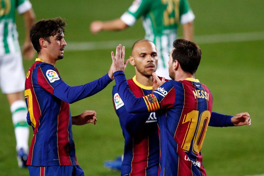 Martin Braithwaite og Lionel Messi, Barcelona