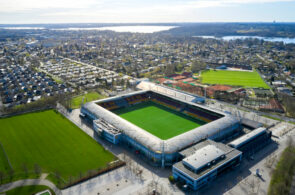 Danish Football Grounds From The air