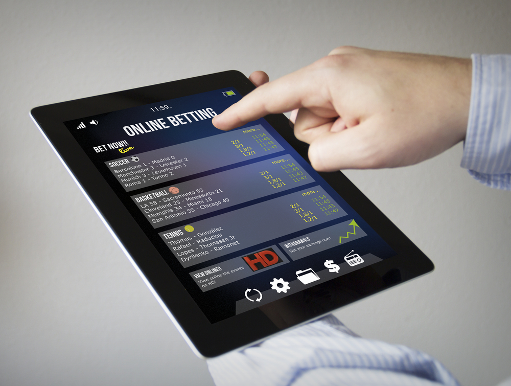 online betting on a tablet