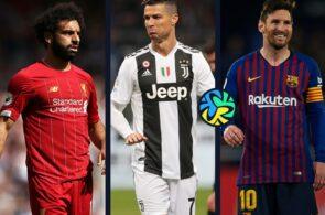 Liverpool Salah-Juventus Ronaldo-FC Barcelona Messi