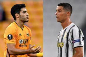 Raul Jimenez of Wolves, Cristiano Ronaldo of Juventus