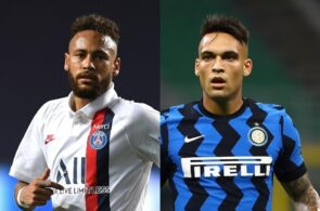 Neymar of Paris Saint-Germain, Lautaro Martinez of Inter Milan
