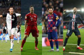 neymar, Ronaldo, lewandowski, messi