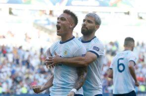 Lautaro Martinez, Sergio Aguero, Manchester City