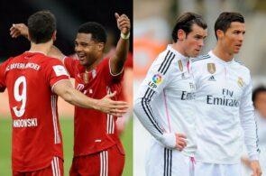 Robert Lewandowski, Serge Gnabry, Cristiano Ronaldo, Gareth Bale