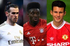 Gareth Bale, Alphonso Davies, Ryan Giggs