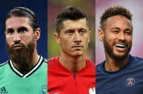 Sergio Ramos, Robert Lewandowski, Neymar, Manchester United, Louis van Gaal