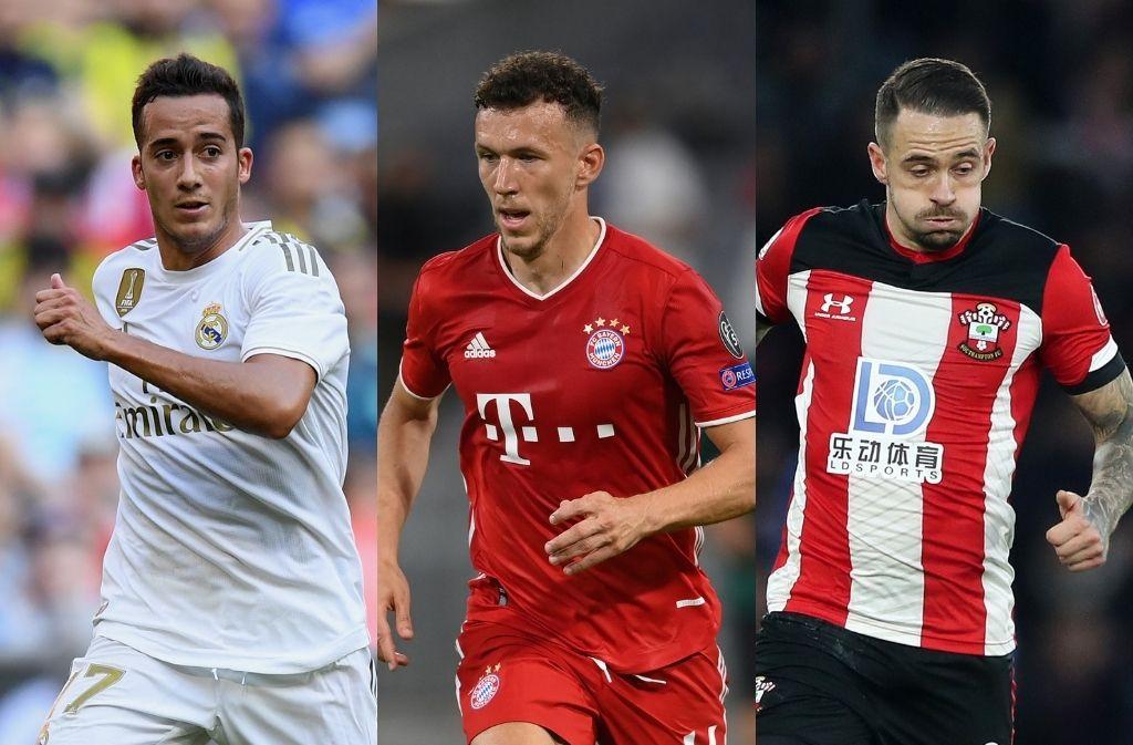 Lucas Vazquez of Real Madrid, Ivan Perisic of Bayern Munich, Danny Ings of Southampton