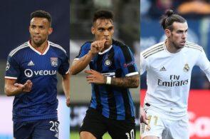 Fernando Marcal of Lyon, Lautaro Martinez of Inter Milan, Gareth Bale of Real Madrid