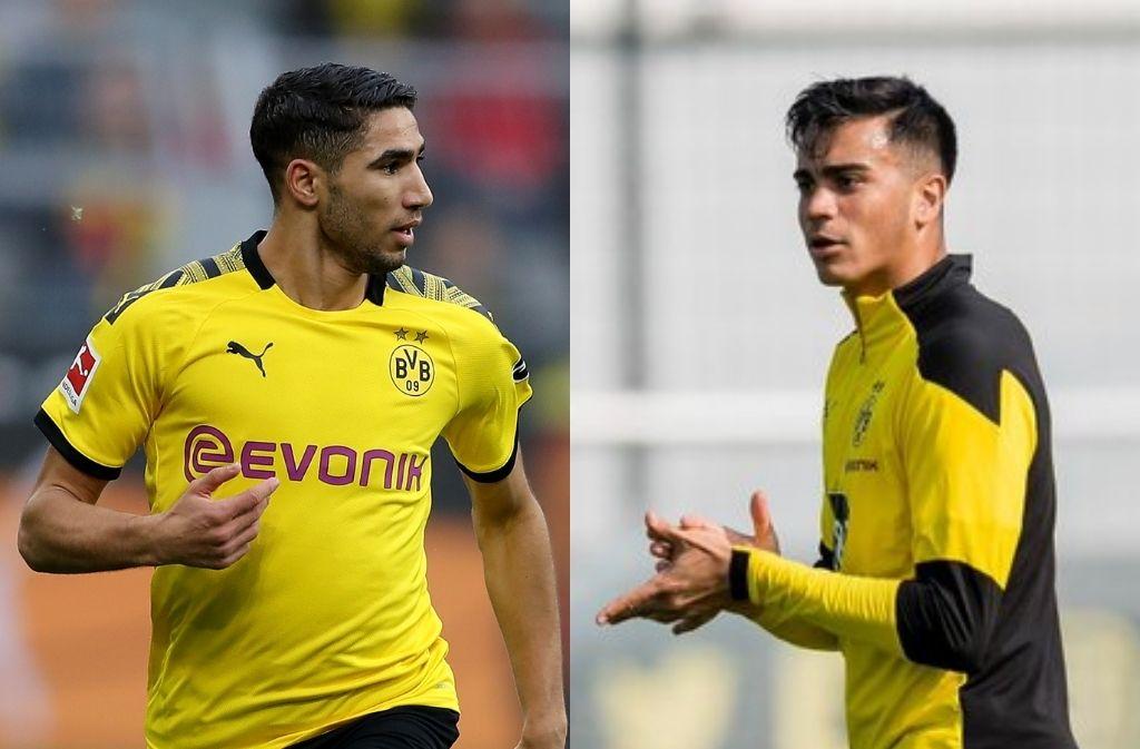 Achraf Hakimi & Reinier of Borussia Dortmund