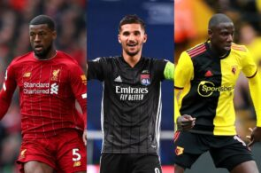 Georginio Wijnaldum of Liverpool, Houssem Aouar of Lyon, Abdoulaye Doucoure of Watford
