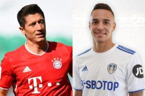 Robert Lewandowski of Bayern Munich, Rodrigo of Leeds United