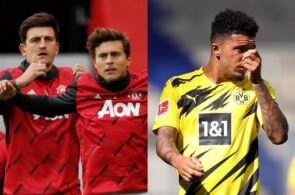 Harry Maguire & Victor Lindelof of Manchester United, Jadon Sancho of Borussia Dortmund