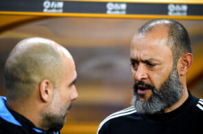 Nuno Espirito Santo of Wolves, Pep Guardiola of Manchester City