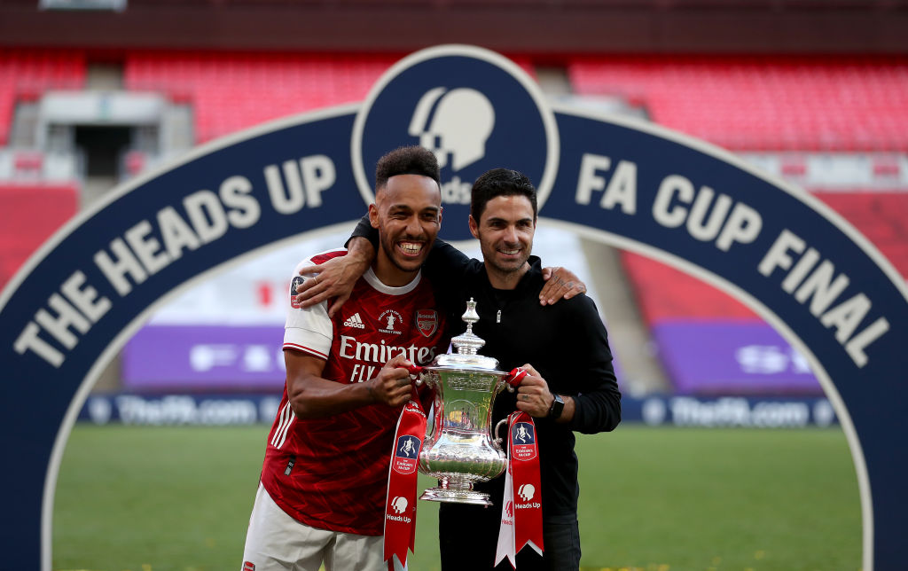 Pierre-Emerick Aubameyang, Mikel Arteta, Arsenal