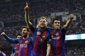 Ivan Rakitic, Luis Suarez, Lionel Messi