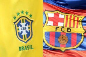 Brazil national team logo, FC Barcelona logo