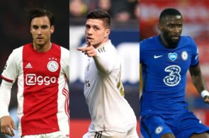 Nicolas Tagliafico of Ajax, Luka Jovic of Real Madrid, Antonio Rudiger of Chelsea